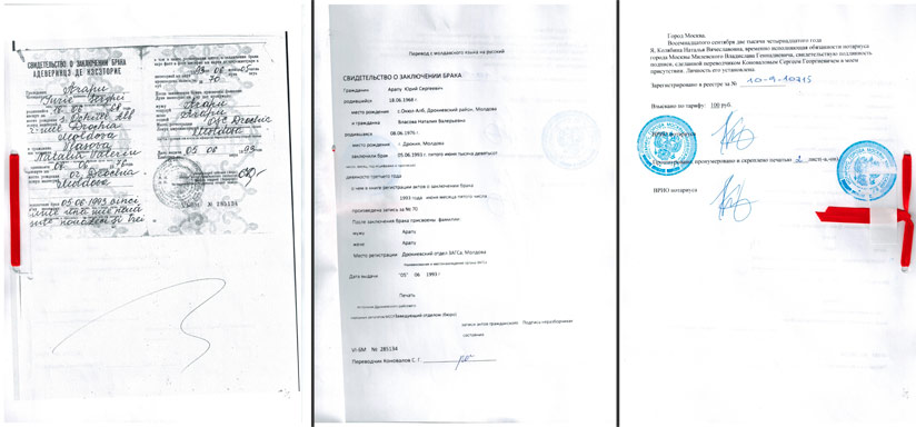 образец нотариальный перевод паспорта